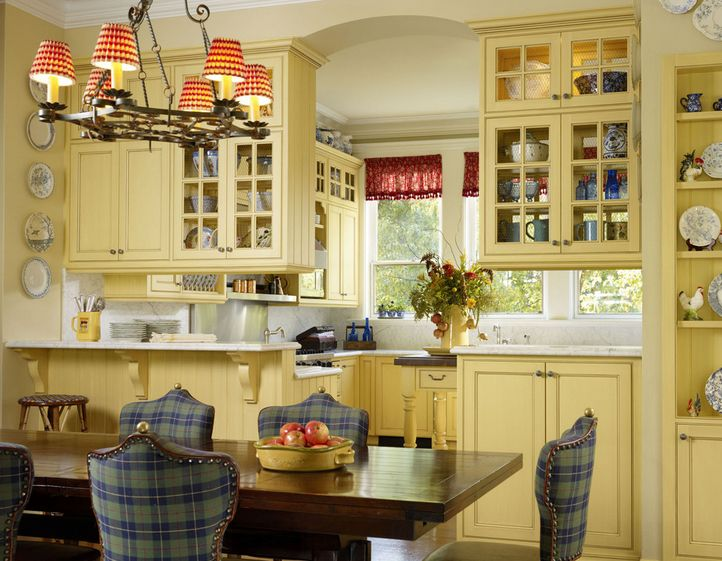 Decorate The Kitchen Using Yellow Accents