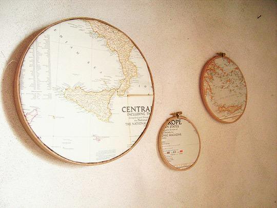 14 Map Decoration Ideas