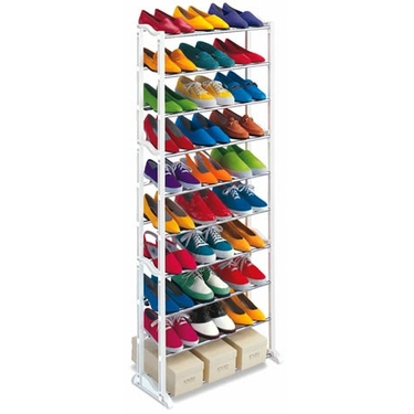 Awesome 30 Pair Shoe Rack Tower Idea