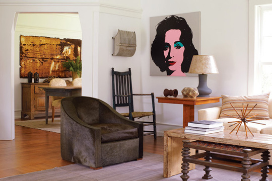Attractive Liz Taylor Portrait By Andy Warhol For Decoration Nice Look
