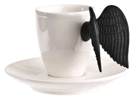 putto espresso cup and saucer the winged cup. Black Bedroom Furniture Sets. Home Design Ideas