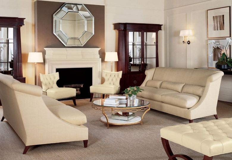 Wonderful Cream Balanced Living Room