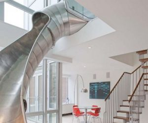 Duplex Apartment With A Steel Slide