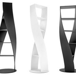 MYDNA Twist Bookcase From Joel Escalona Studio