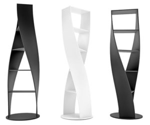 MYDNA Twist Bookcase from Joel Escalona Studio