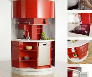 Compact Circular Kitchen designed by Alfred Averbeck