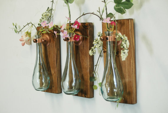 Teardrop flower vases
