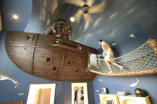 Amazing Pirate Ship Bedroom Design by Steve Kuhl
