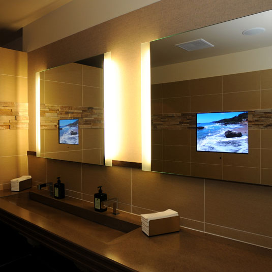 bathroom television mirror bathroom mirrors with built in tvs 11552