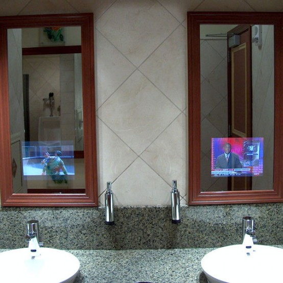 bathroom mirrors with tv built in bathroom mirrors with built in tvs 24934