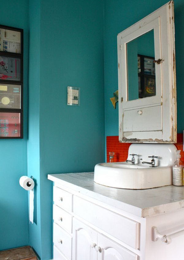 Difference between wall paint and ceiling paint on concrete in a bathroom, crown molding in a bathroom, flagstone in a bathroom, soffit in a bathroom,