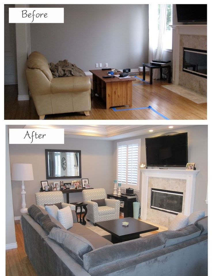 Rearranging Furniture Before And After How To Efficiently Arrange The Furniture In A Small Living room