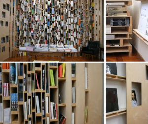 Whole Walls of Bookcases and Shelves by Event Architectuur