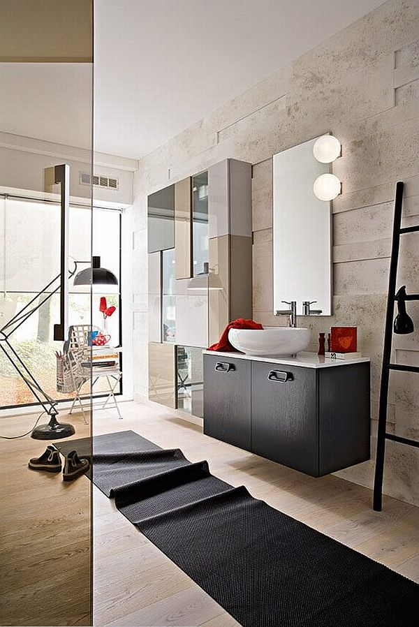 in a casual contemporary bathroom - Contemporary Bathrooms Ideas