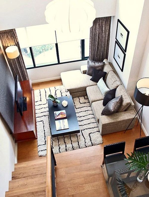 apartment furniture layout.  How To Efficiently Arrange The Furniture In A Small Living room