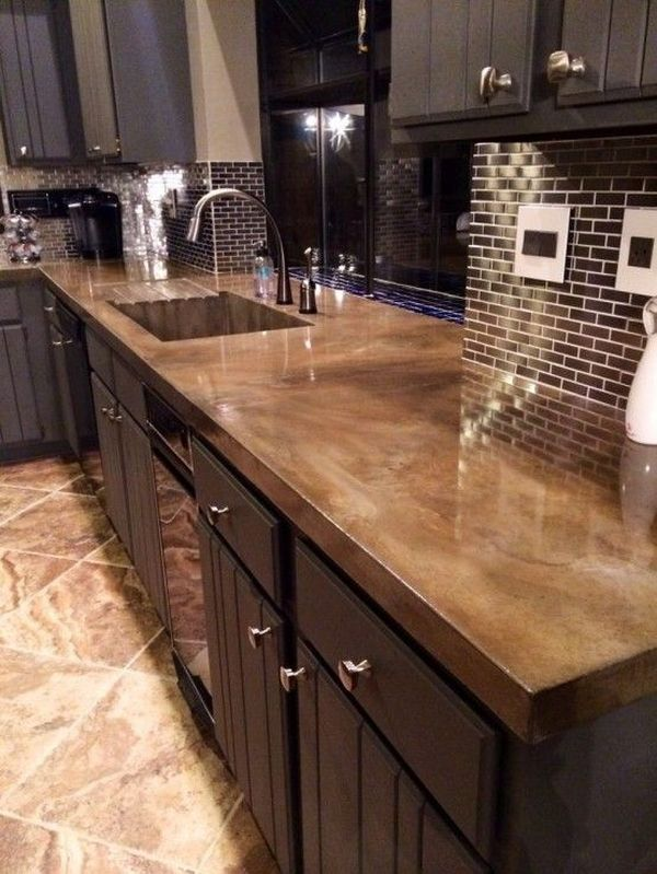 View In Gallery. Concrete Is Another Great Option For Countertops.