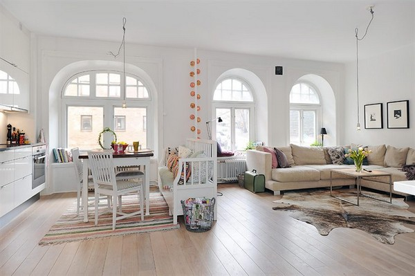 A Spacious Swedish Apartment With Pastel Accents