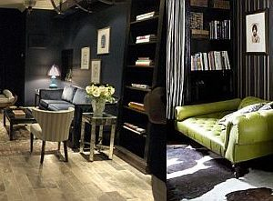 Dark decoration for living room