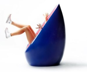 ... Colorful And Friendly Egg Shaped Chair
