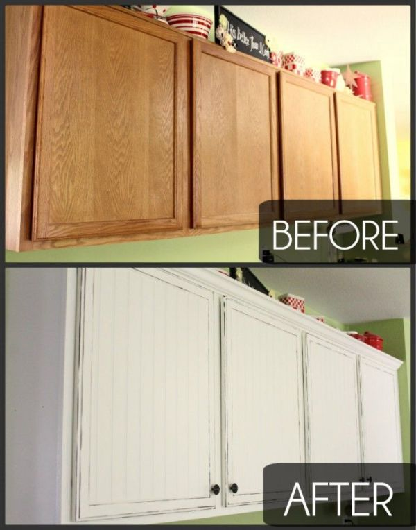 Give your kitchen cabinets a facelift for Making old kitchen cabinets look modern