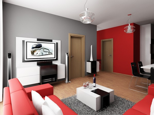 apartment colors.  Beautiful and Minimalist Apartment Design by Neopolis