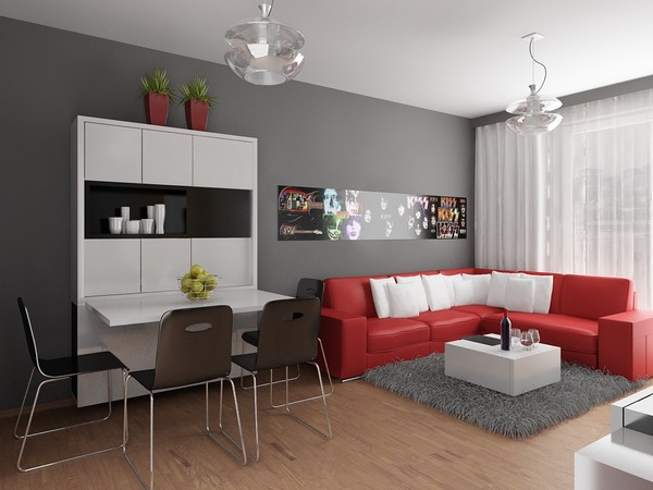 beautiful and minimalist apartment design by neopolis. Black Bedroom Furniture Sets. Home Design Ideas