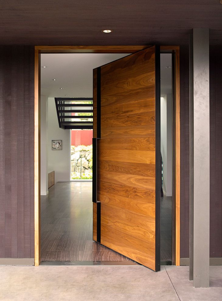 How modern front doors can reveal the character of your home for Modern single front door designs for houses