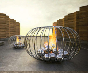 Futuristic fireplace designs by Elena Colombo