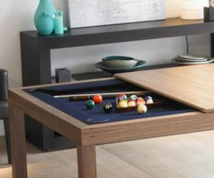 Pool table + Dining room table = one happy family