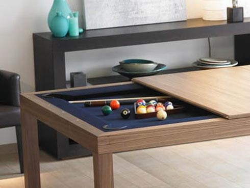 Perfect Pool Table + Dining Room Table U003d One Happy Family