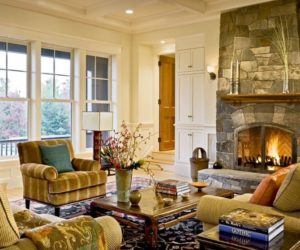 how to arrange the furniture around a fireplace - Furniture For Large Living Room