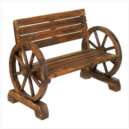 Exceptional View In Gallery. The Rustic Wagon Wheel Garden Bench ...