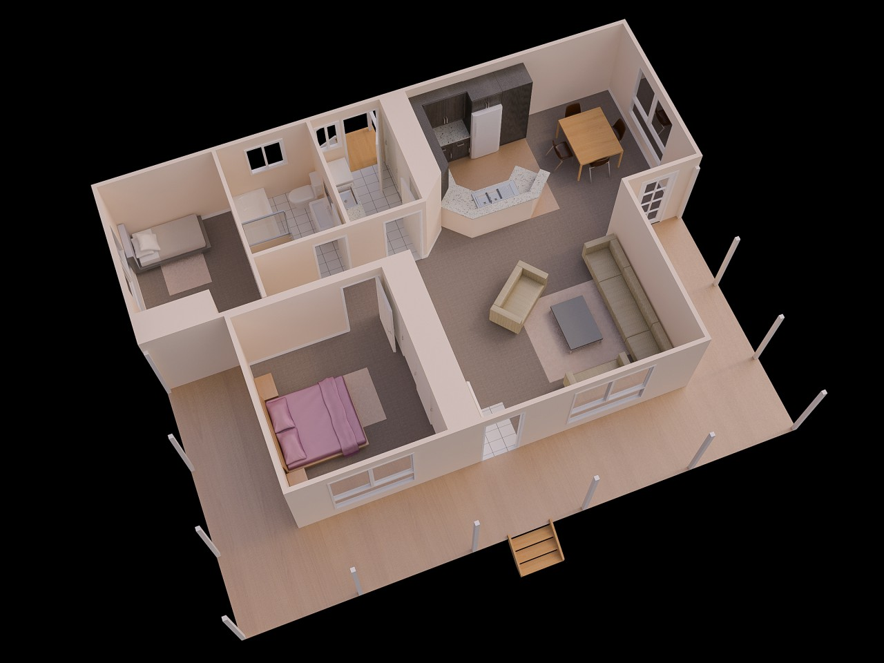 Understanding D Floor Plans And Finding The Right Layout For You - Simple 2 bedroom house design
