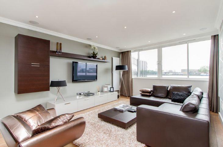 Living room wall media system
