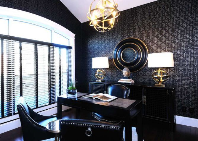 Luxury black office furniture