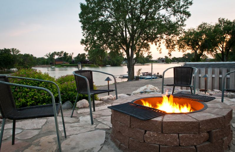 Patio Firepit from Rocks