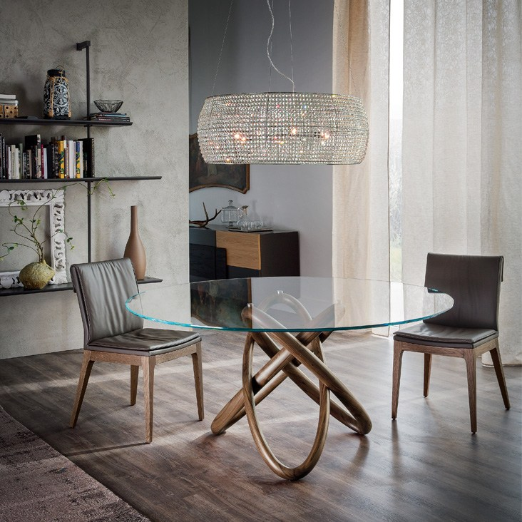 Round crystal table cattelan italia