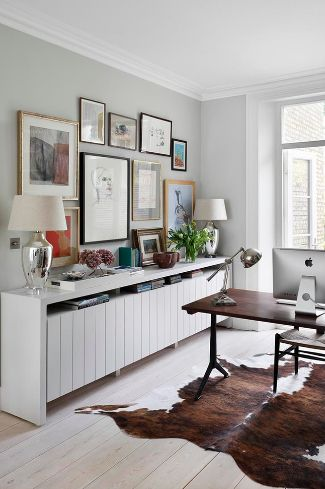 Scandinavian decor with a white sideboard