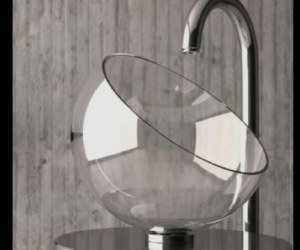 Awesome Beautiful Moon Glass Sink By Glass Design Nice Design