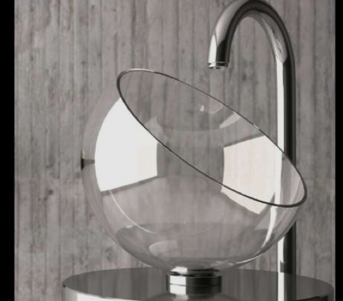 Beautiful Moon Glass Sink By Glass Design