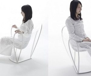 Unusual transparent chair designed by Nendo