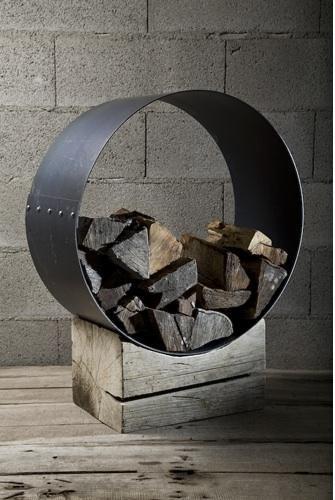 Wood firewood storage in style