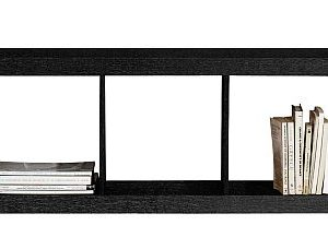Good Minimalist And Slim Media Console · Simple Black Bookcase Awesome Ideas