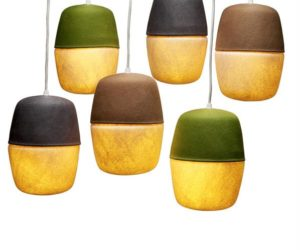 Playful capsule hanging lamps