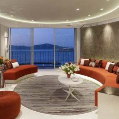 Superb San Francisco Apartment With Circular Living Room Design Images