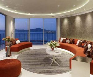 San Francisco apartment with circular living room design