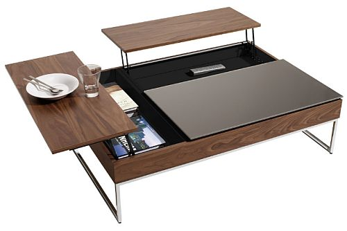 Coffee table with clever storage solution for Table qui s agrandit ikea