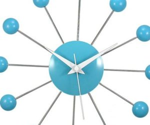 ... Fun Turquoise Wall Clock For Kids