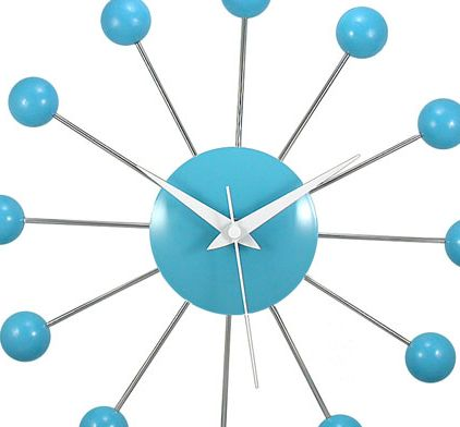 Superb Fun Turquoise Wall Clock For Kids