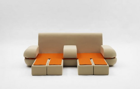 Extendable Sofa By Matali Crasset